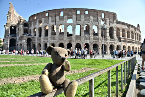 Muki Bear at Colisseum, Rome