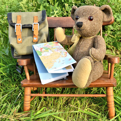 Muki Bear perusing the map